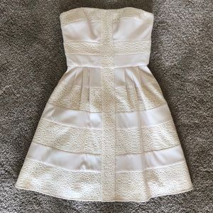BCBGENERATION Strapless Fit & Flare Dress